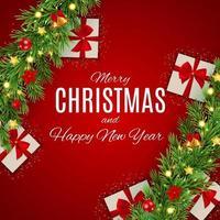 prettige kerstdagen en nieuwjaarsachtergrond. vector illustratie