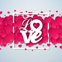 Love Valentines Day Illustratie vector