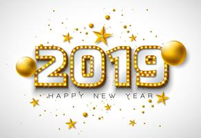 2019 Gelukkig Nieuwjaar illustratie vector