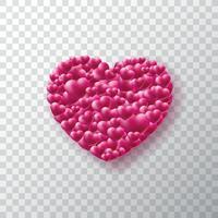 Valentijnsdag achtergrond met hart vector