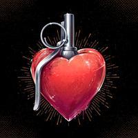 hart granaat kunst vector