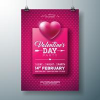 Valentijnsdag partij flyer ontwerpen vector