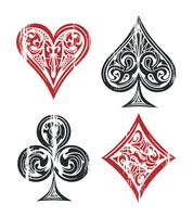 Speelkaarten Symbolen vector
