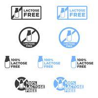 Lactose-vrije pictogrammen instellen. vector