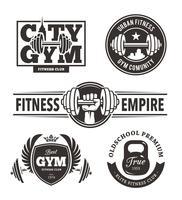 Fitness emblemen instellen vector