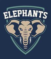 olifant mascotte sport embleem ontwerp vector