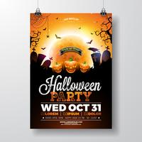 Halloween-partij flyer vectorillustratie vector