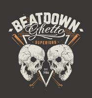 Grunge ontwerp met schedels