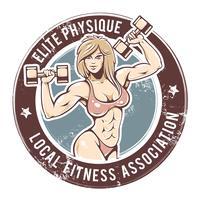 gym dame vector