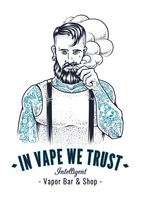 vaper hipster kunst vector