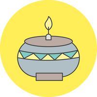 vector lamp pictogram