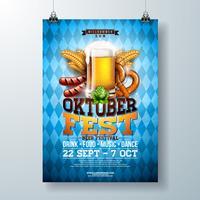 Oktoberfest partij poster illustratie vector