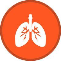 longen glyph ronde cirkel meerkleurig vector
