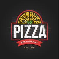 Pizzeria Logo sjabloon vector