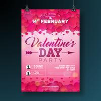 Valentijnsdag partij flyer illustratie vector