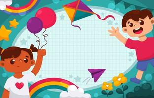 kleurrijke kinderdag achtergrond vector