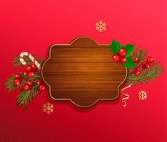 Vrolijk kerstfeest en nieuwjaarsjabloon