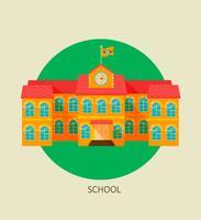 Klassiek schoolgebouw icoon. vector