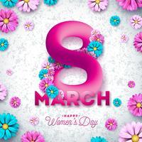 8 maart Gelukkige vrouwendag vector