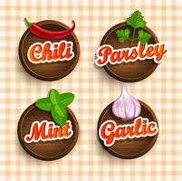 Stickers van kruiden.