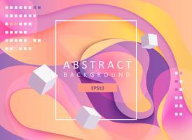 Abstracte geometrische gradiëntachtergrond met kubussen. vector