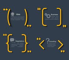 Set van verschillende sjablonen citaten.