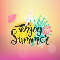 Geniet van het zomerparadijs. vector