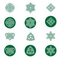 Keltische knoop pictogrammen vector