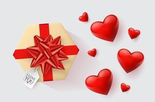 Feestelijk behang gedecoreerd met harten en geschenken. Vector illustratie