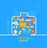 Concept van de reis