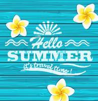 Hallo zomer. Vector.