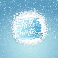 Hallo winter geeting kaart.