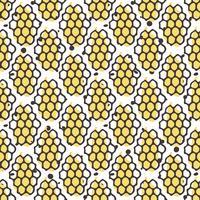 Vector natuurlijk honing naadloos patroon. Bio hand getrokken ontwerp.