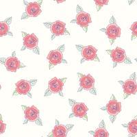 Hand getrokken rozen naadloze patroon