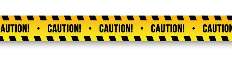 Vector waarschuwingsborden en banden.