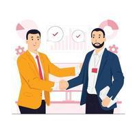 zakelijke deal, twee zakenpartners handshaking concept illustratie vector