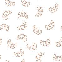 Hand getrokken cupcakes naadloze patroon. Afdrukken voor bakkerij.