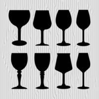 set van wijnglazen geïllustreerd op een witte achtergrond vector