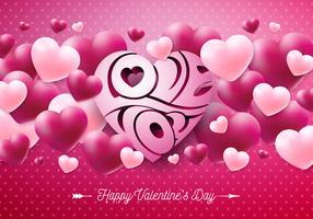 Happy Valentijnsdag ontwerp vector