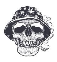 rastaman schedel kunst vector