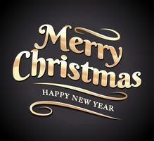 Vrolijk kerstfeest Typografie vector
