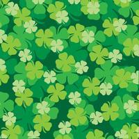 Saint Patrick's Day gelaagd klaverbladpatroon vector