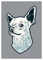 Getatoeëerde Chihuahua