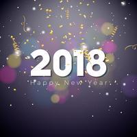 Gelukkig Nieuwjaar 2018 illustratie