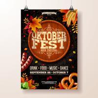 Oktoberfest poster illustratie vector