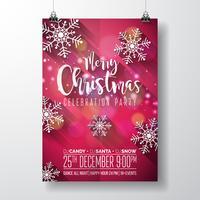 Vrolijk kerstfeest ontwerp vector