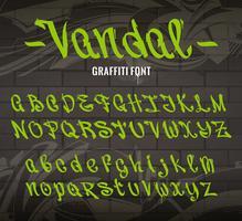 vandaal graffiti lettertype vector