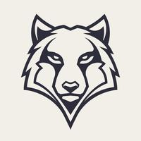 Wolf mascotte vector pictogram