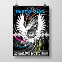 Partij flyer ontwerpen vector