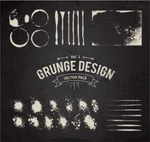 grunge ontwerpelementen